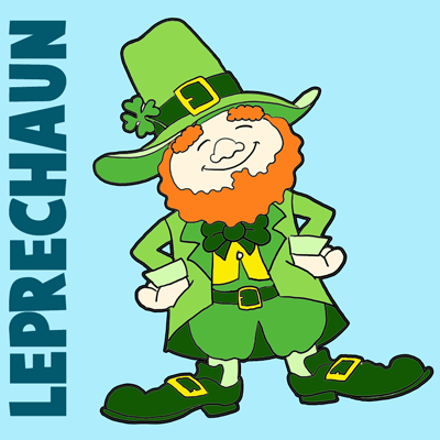 How to Draw a Leprechaun Step by Step Drawing Tutorial