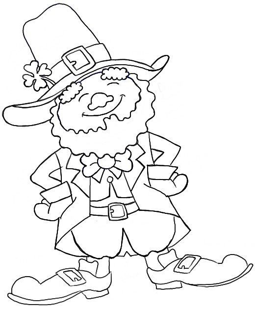 How to draw a leprechaun step by step drawing tutorial how to finished bw leprechaun st patricks day ccuart Choice Image