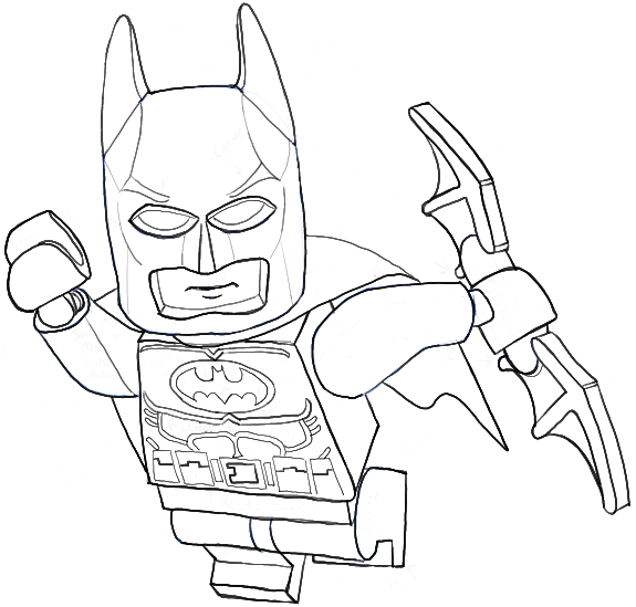 How To Draw Lego Batman Minifigure With Easy Step By Step Drawing Tutorial - How To Draw Step By ...