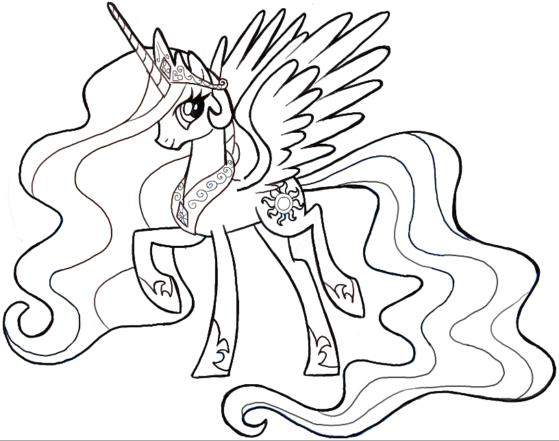 How To Draw Princess Celestia From My Little Pony