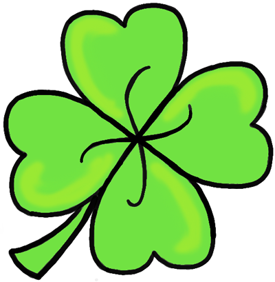finished drawing of a 4 leaf clover