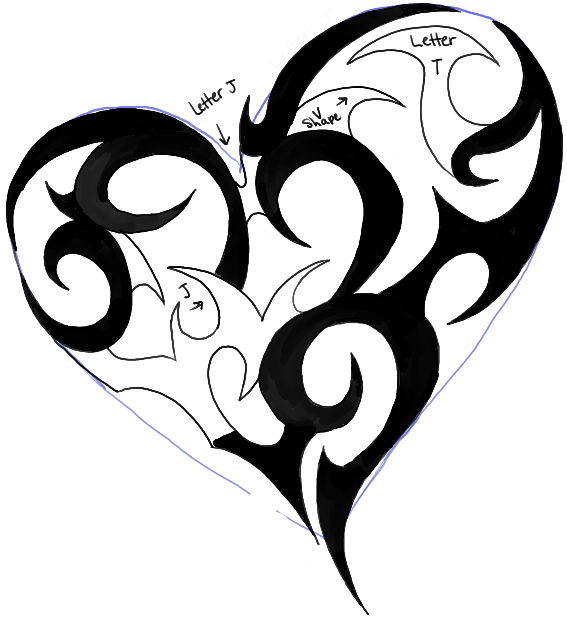 How to Draw a Tribal Heart Tattoo Design in Easy Steps ...