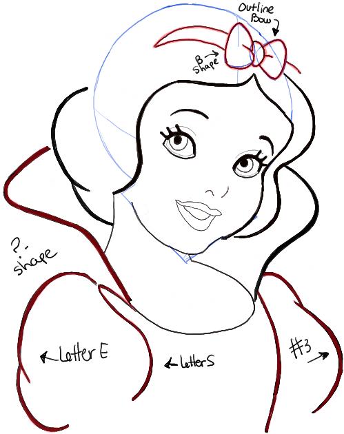 snow white draw