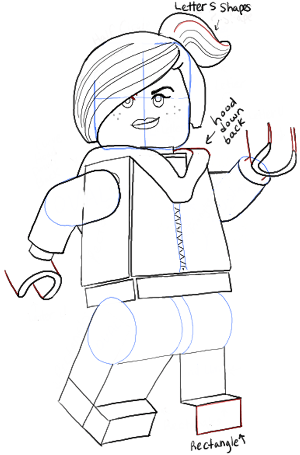 How To Draw Wyldstyle From The Lego Movie Aka Lucy The