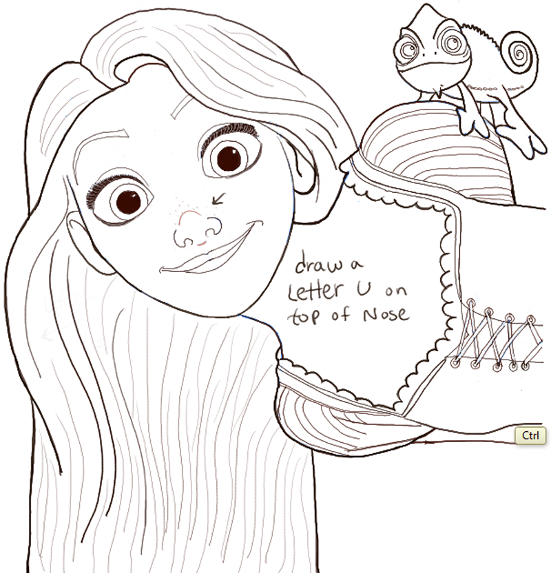 How To Draw Rapunzel And Pascal From Tangled With Easy Step By Step Tutorial How To Draw Step By Step Drawing Tutorials