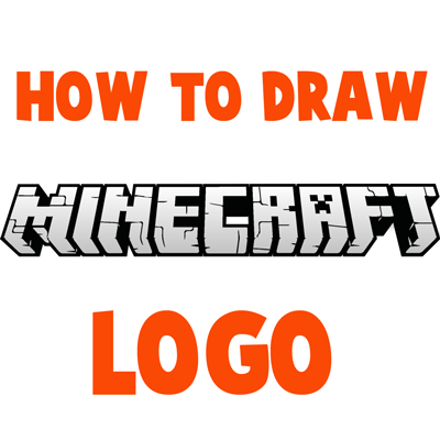 How to Draw the Minecraft Logo Step by Step Drawing Tutorial