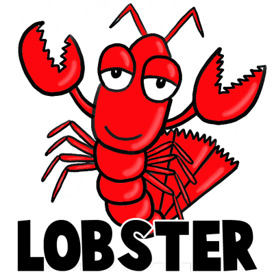 how to draw cartoon lobsters with easy step by step drawing tutorial rh drawinghowtodraw com cartoon lobster clip art cartoon lobster names