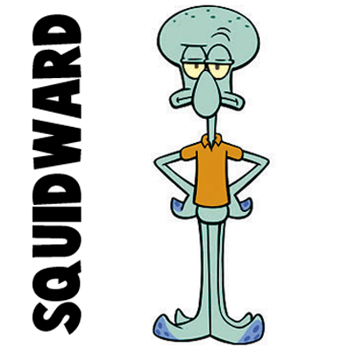 How to draw squidward from spongebob squarepants with easy step by step drawing tutorial