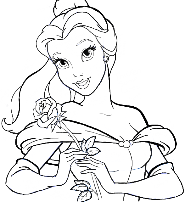 How to Draw Belle from Beauty and the Beast Step by Step Tutorial