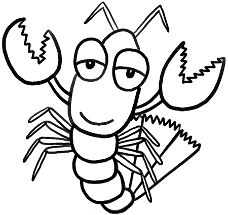 how to draw cartoon lobsters with easy step by step drawing tutorial for kids