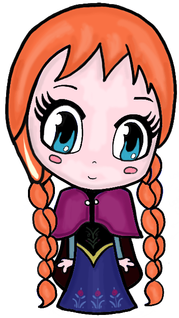 How to Draw Chibi Anna from Frozen with Easy Step by Step ...