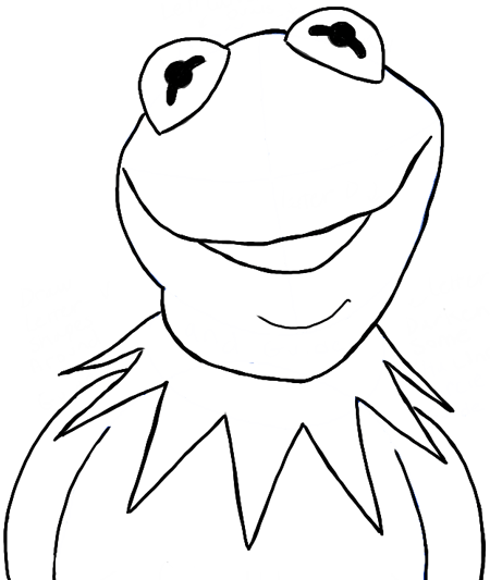 How to Draw Kermit the Frog from The Muppets Movie and Show in