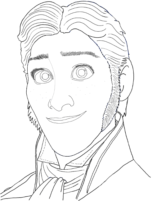 Finished Drawing of Prince Hans from Disney's Frozen