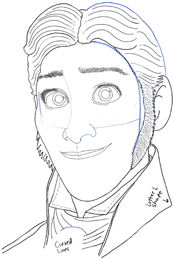 How To Draw Prince Hans From Frozen With Easy Step By Step