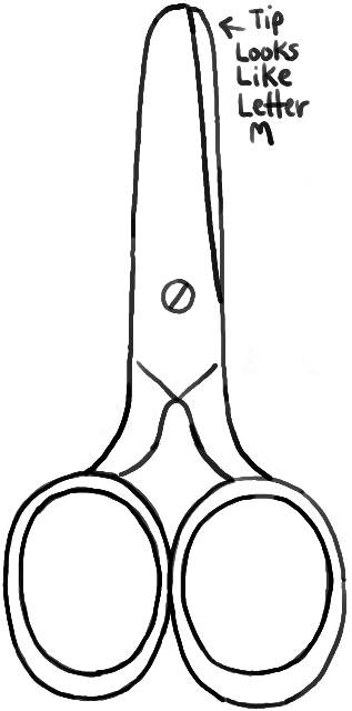 How to Draw Scissors with Easy Step by Step Drawing ...