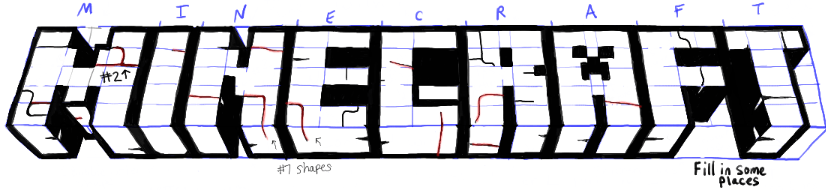 How to Draw the Minecraft Logo Step by Step Drawing Tutorial - How ...