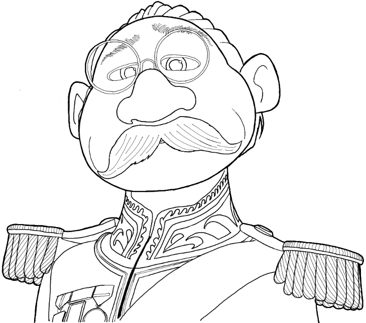 How to Draw Duke of Weselton from Frozen in Simple Steps Tutorial