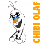 How to Draw Chibi Olaf or Baby Olaf from Frozen in Easy Step by Step Drawing Tutorial