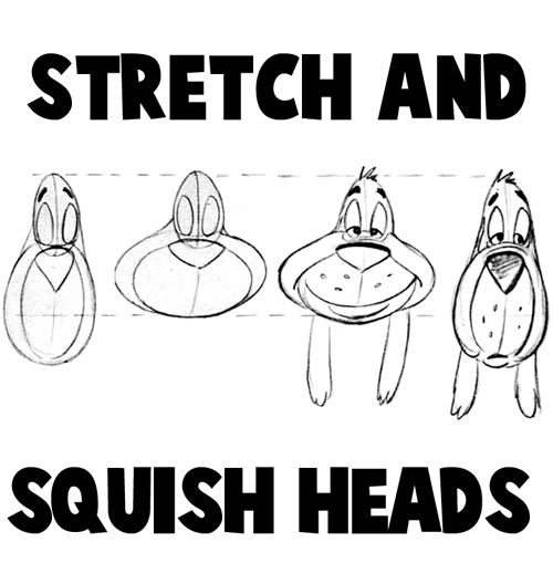 How to Stretch and Squish Cartoon Heads to Make New Cartoon Characters
