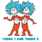 How to Draw Thing 1 and Thing 2 from Dr. Seuss The Cat in the Hat