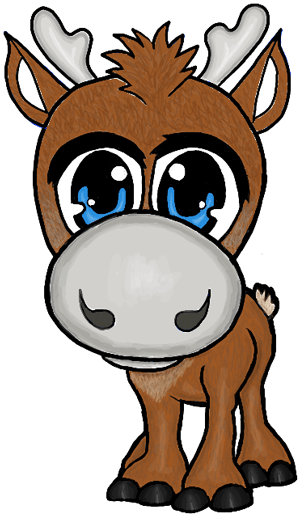 Colorized Picture of Baby Sven the Reindeer