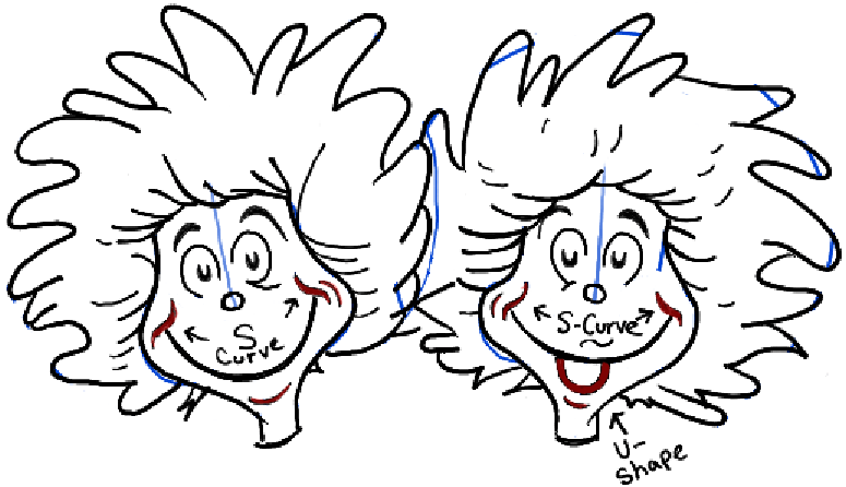 How To Draw Thing One And Thing Two From Dr Seuss The Cat