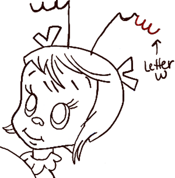 How To Draw Cindy Lou Who From How The Grinch Stole