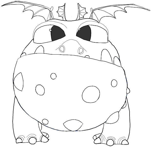How to draw baby gronckle from how to train your dragon 2 for Baby drawing easy