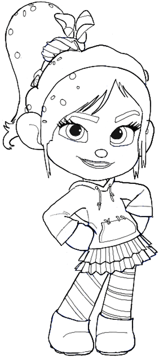 Finished Drawing of Vanellope Von Schweetz  ... AKA Glitch