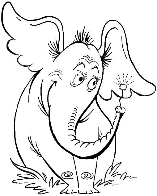 How to Draw Horton Hears a Who from Dr. Seuss' Book in ...