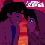 How to Draw Aladdin and Jasmin About to Kiss in Easy Steps Tutorial
