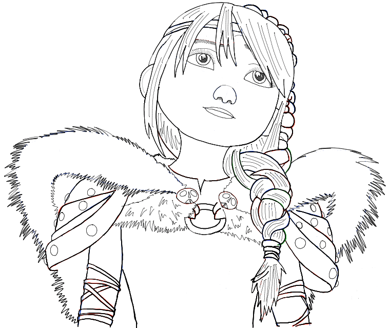 How to Draw Astrid from How to Train Your Dragon 2 in Simple Step
