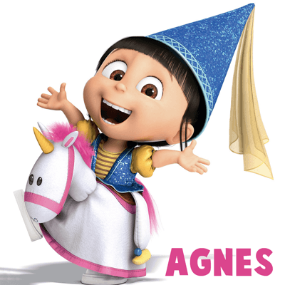 How to Draw Agnes, the Youngest Daughter, from Despicable in Step by Step Drawing Tutorial