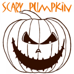 How to Draw a Scary Pumpkin Jack-O-Lantern in Easy Steps by Step Drawing Tutorial
