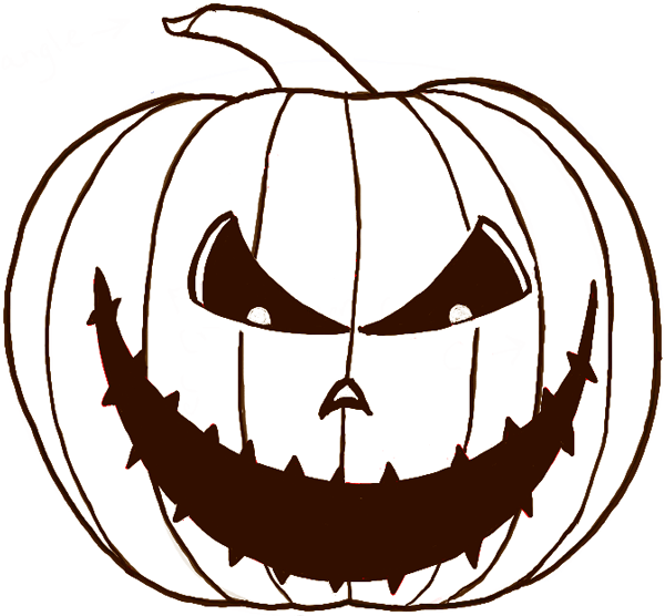 How to Draw a Scary Pumpkin JackOLantern in Easy Steps for