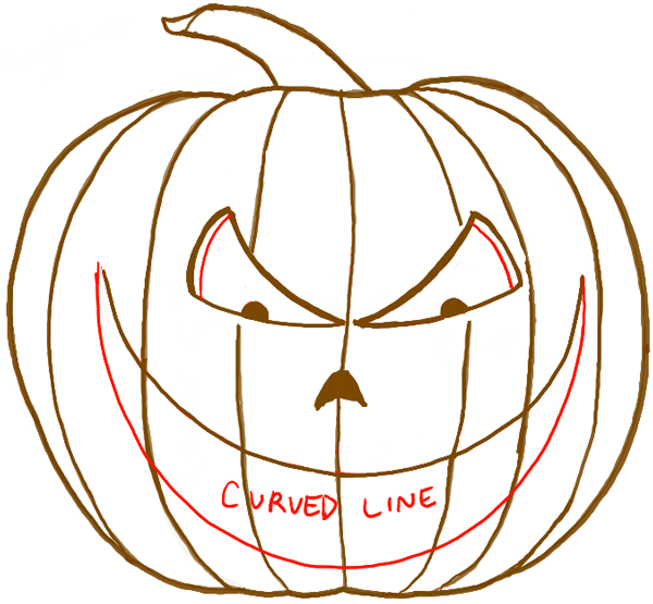 How to Draw a Scary Pumpkin Jack,O,Lantern in Easy Steps for