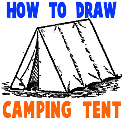How To Draw Tents Easy Step By Drawing Tutorial For Camping Gear