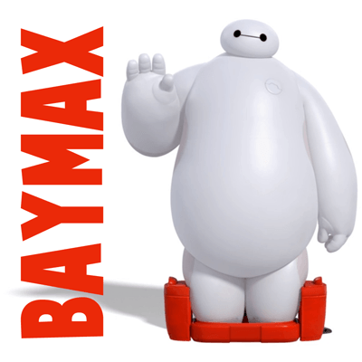 How to Draw Baymax (The White Balloon Robot) from Big Hero 6 in Simple Steps Lesson for Kids