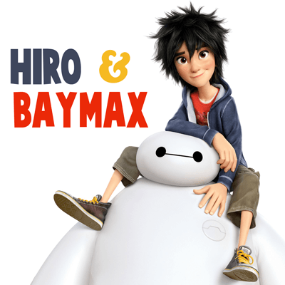 How to Draw Hiro Hamada and Baymax from Big Hero 6 in Simple Step by Step Drawing Lesson