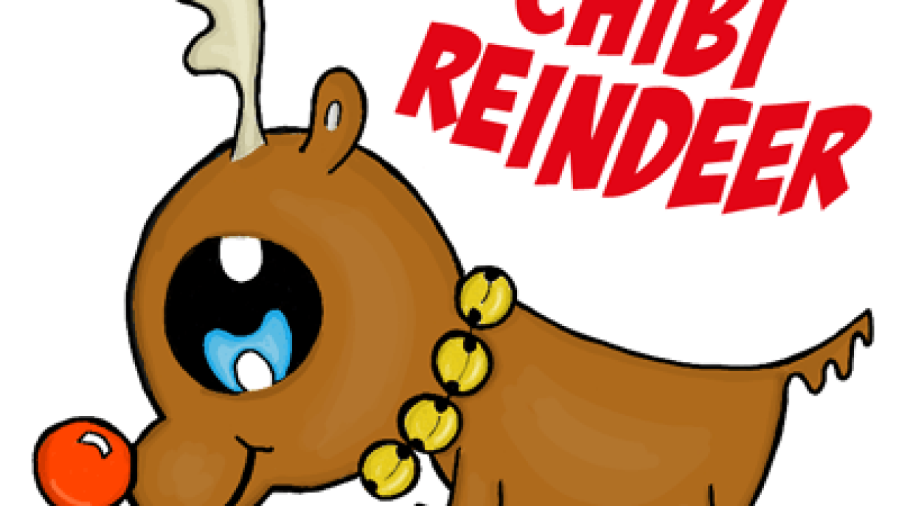 How To Draw A Chibi Reindeer Or Baby Rudolph The Red Nosed Reindeer For Kids How To Draw Step By Step Drawing Tutorials