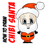 How to Draw Chibi Santa Claus Easy Step by Step Drawing Tutorial