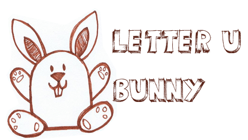 Draw a Bunny Rabbit from an Upside Down Letter U Shape