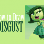 How to Draw Disgust from Inside Out with Simple Steps Drawing Lesson