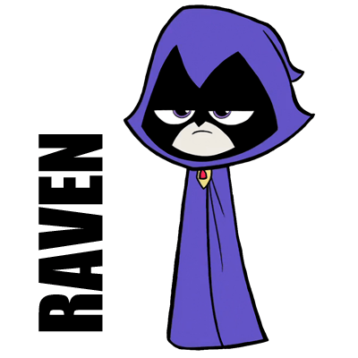 How to Draw Raven from Teen Titans Go With Simple Step by Step Drawing Lesson
