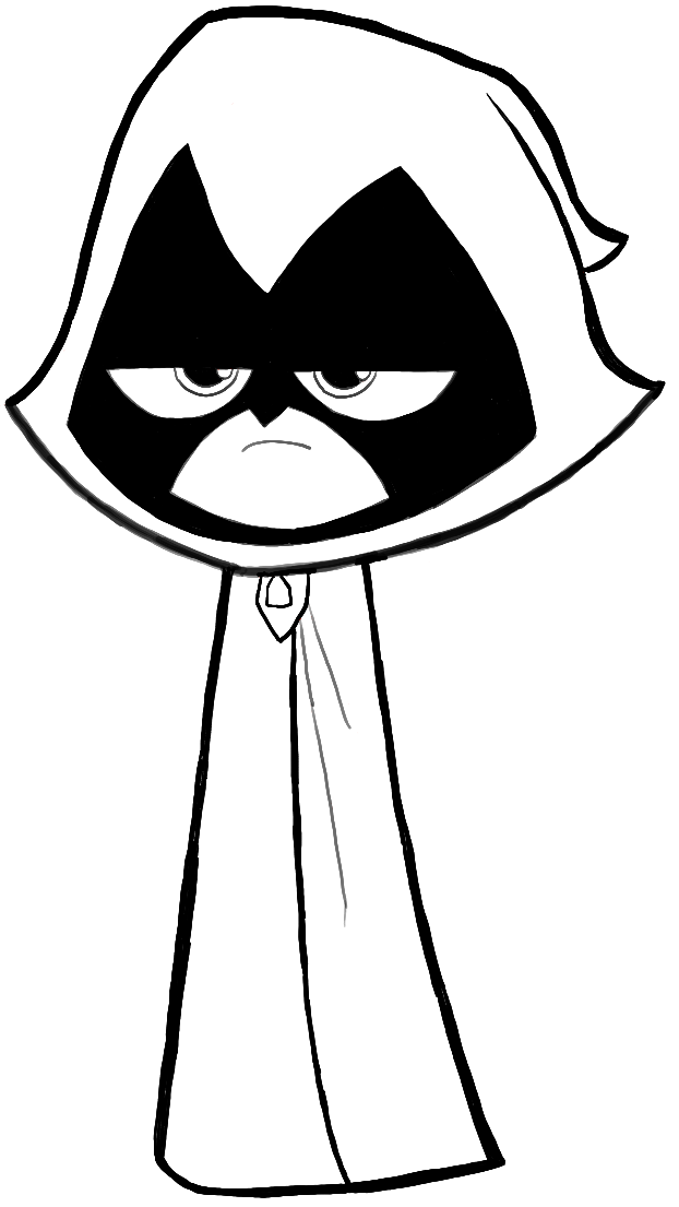 How To Draw Raven From Teen Titans Go With Easy Steps