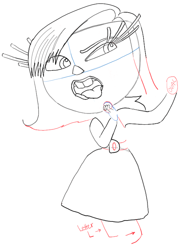 How To Draw Disgust From Inside Out With Easy Step By Step