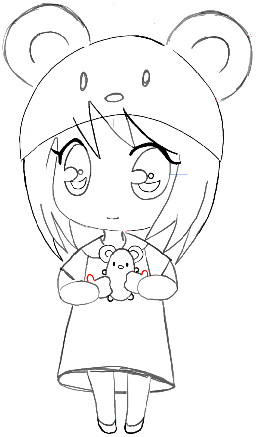 step12 chibi girl anime manga mouse hat