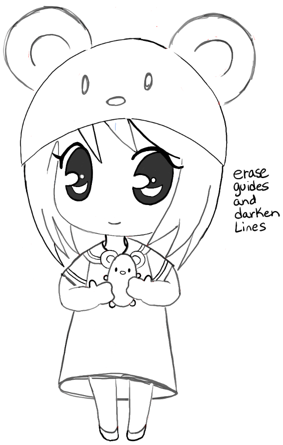 Step 13 step13 chibi girl anime manga mouse hat