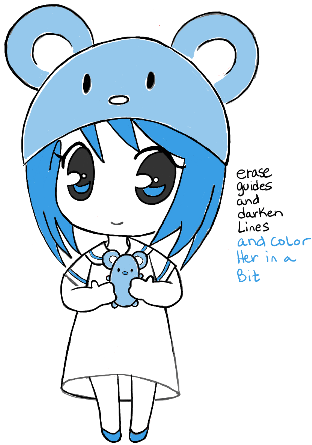 Step14 chibi girl anime manga mouse hat