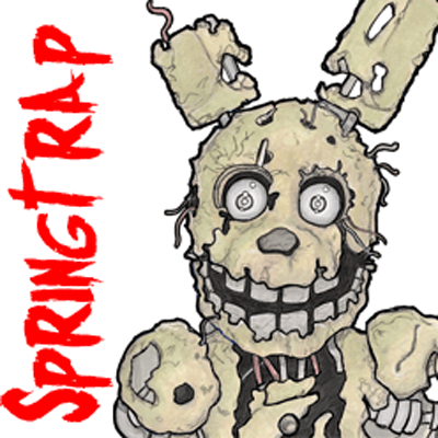 How to Draw Springtrap from Five Nights at Freddy's 3 Step by Step Drawing Tutorial